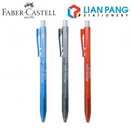 10pcs x Faber-Castell Ball Pen Click X5 0.5mm - (Black/Blue/Red)