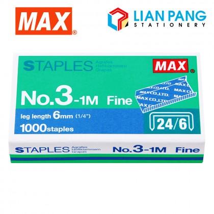MAX Staples 6mm Length No.3-1M Fine