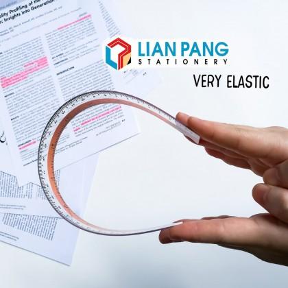 Elastic Straight Plastic Ruler 30cm