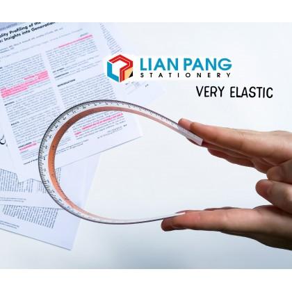 Elastic Straight Plastic Ruler 15cm