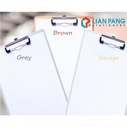 A4 Clip Board PP Material Colour Grey/Brown/Beige