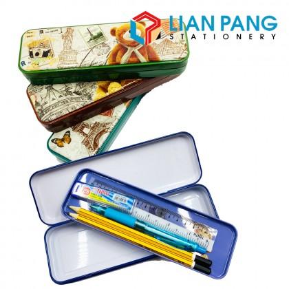 Travel Bear Metal Pencil Box