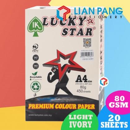 Lucky Star 20 Sheet Colour Paper Light Colour 80gsm