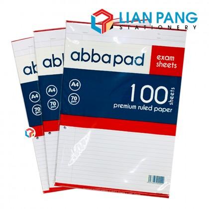 Abba Pad Exam Sheet Pad Foolscape 100 Sheets