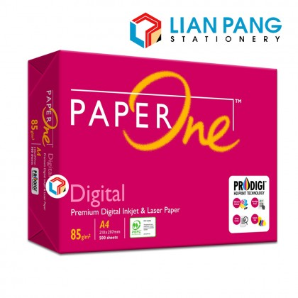 Paper One A4 Paper 85gsm 500 Sheets (5 Reams)