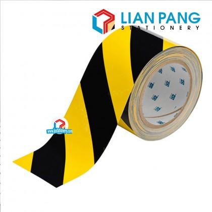 Awas Warning Safety Yellow Black Strip Tape 48mm x 50m