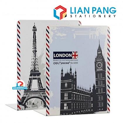 Metallic Bookend Theme London Paris