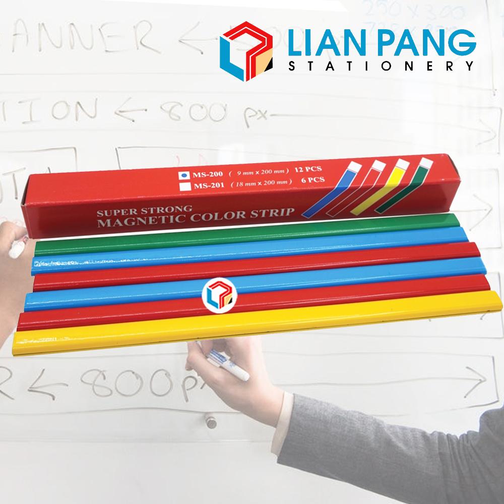 Magnetic Strip Bar Whiteboard 12pcs